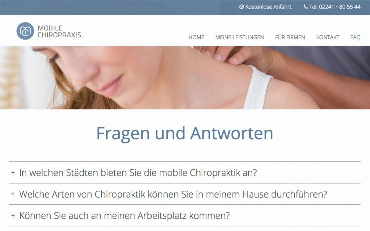 mobile-chiropraxis.de FAQ